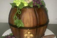 Sculpted Wine Barrel Cake