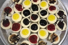 Assorted Fruit Topped Mini Cheesecake Tray