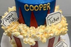 Movie Time Tier Cake