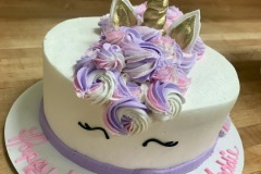 Unicorn Fondant Horn Cake