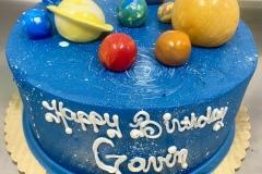 Fondant Planets Cake