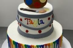Artist Pallet Drip Cake