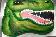 Dinosaur Cutout Cake