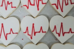 Royal EKG Heart Cookie
