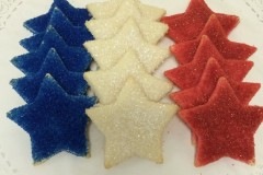 Red, White and Blue Sugar Cookie Stars