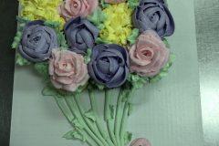 Cupcake Cake  Dozen Floral Bouquet