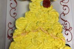 Cupcake Cake Rosette  Yellow Belle Dress