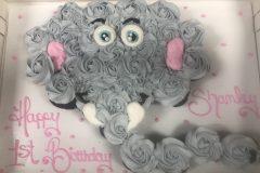 Cupcake  Cake Rosette Baby Elephant