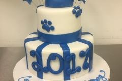 Paw Print Tier Graduation Cake