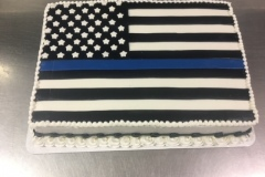 Thin Blue Line Cake