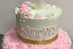 Rosette Religious Tier Cake