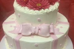 Fresh Pink Daisy Cake