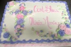 Cross of Assorted Rose Cake