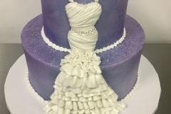 Tiered Wedding Dress Cake