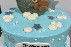 Teddy Moon Baby Shower Cake