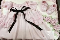 Fondant Christening Dress and Shoes Cake